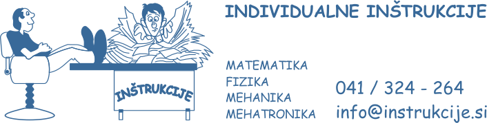 Inštrukcije matematike, fizike, mehanike